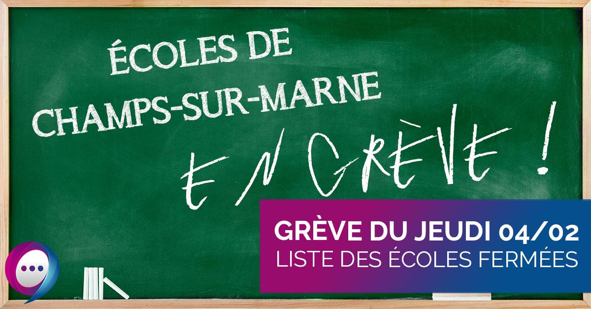 Grève 4 février - 77420.fr Actualités Champs-sur-Marne