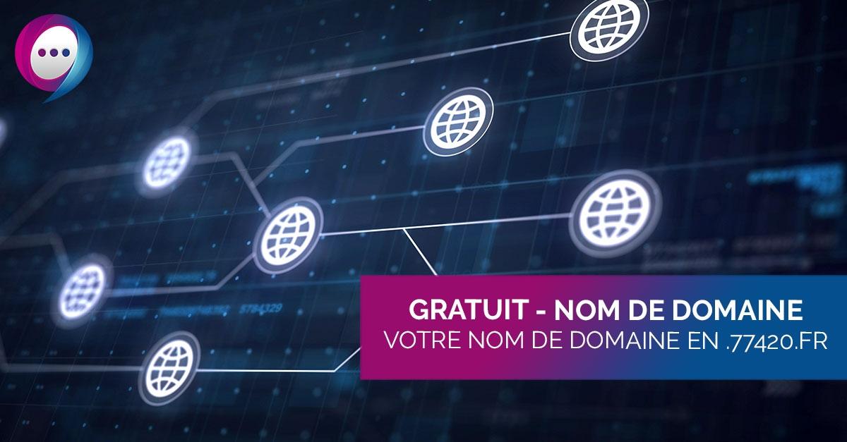 GRATUIT – Votre nom de domaine en .77420.fr