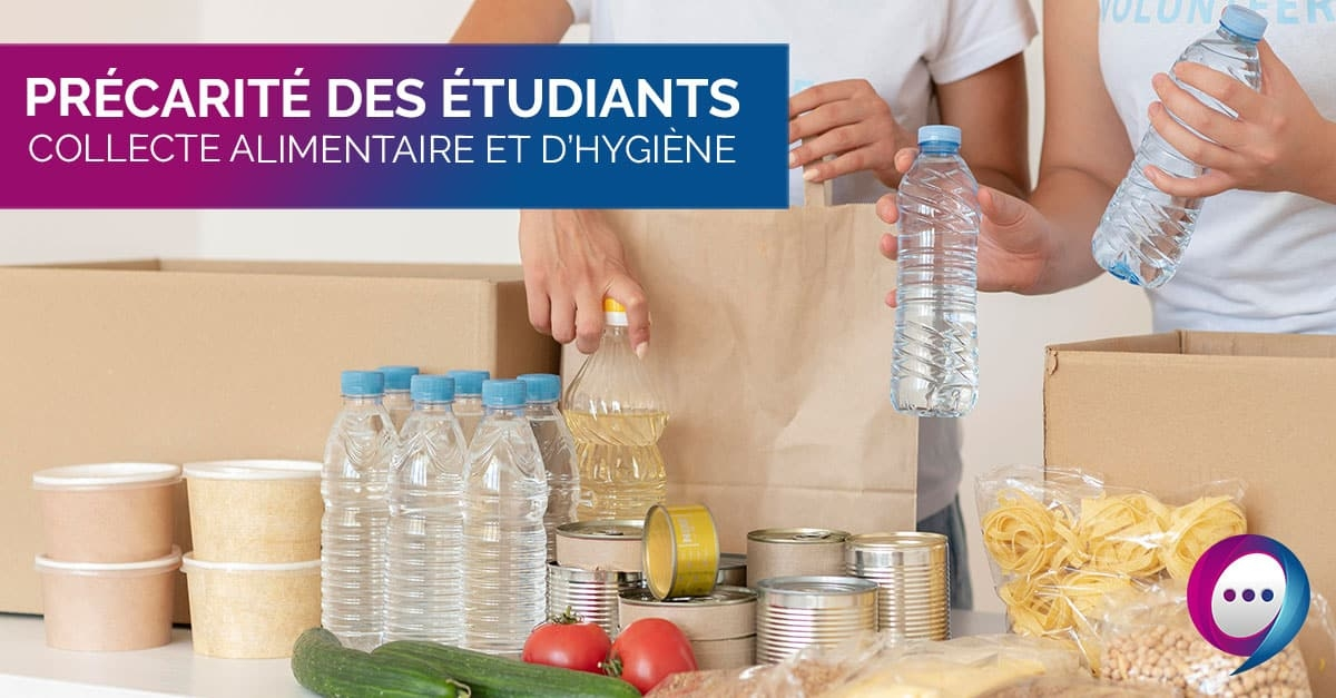 Collecte alimentaire et d'hygiène à l'université Gustave Eiffel